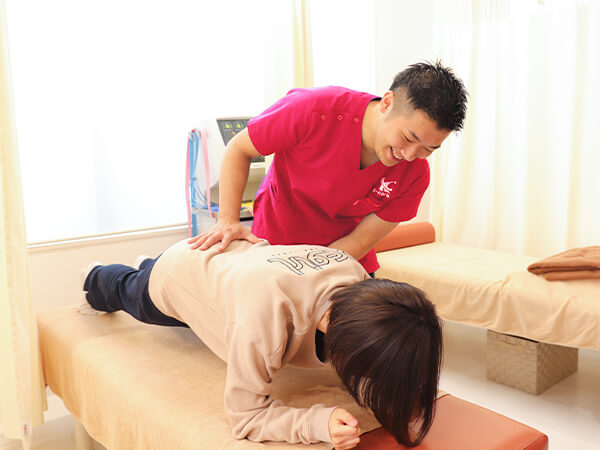 肩の調整の写真