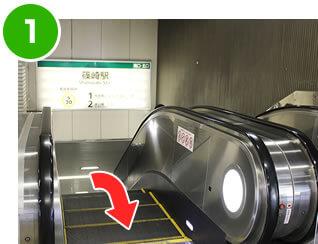 """篠崎駅の改札から1階へ"""""""